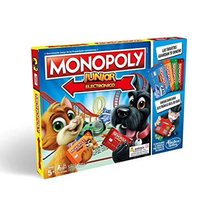 Amazon.com: Monopoly Junior - Electronico (Hasbro e1842105 ...