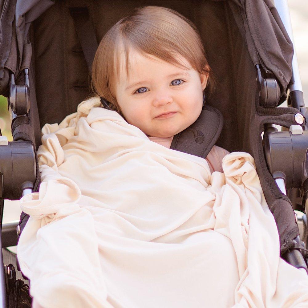 Boody Baby Muslin Wraps 2 Pack Boodywear MWSKOS Sky//Chalk One Size