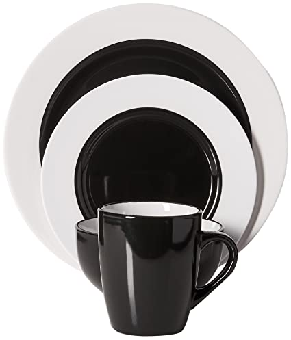Gibson Home Style Deluxe 16-Piece Dinnerware Set Black  sc 1 st  Amazon.com & Amazon.com | Gibson Home Style Deluxe 16-Piece Dinnerware Set Black ...