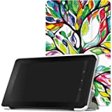 MoKo Fire 7 2015 Case - Ultra Lightweight Slim-shell Stand Cover for Amazon Fire Tablet (7 inch Display - 5th Generation, 2015 Release Only), Lucky TREE