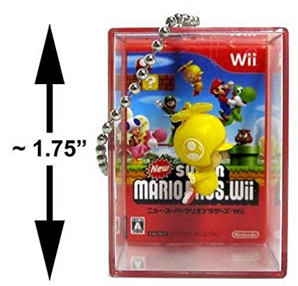 Amazon.com: New Super Mario Bros Wii Figura Bobble llavero ...