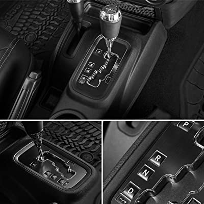 E-cowlboy Trim Gear Frame Cover Gear Shift Box Cover for Jeep Wrangler 2012~2020 Aluminum Inner Accessories Custom Fit - All Weather Protection (Black): Automotive