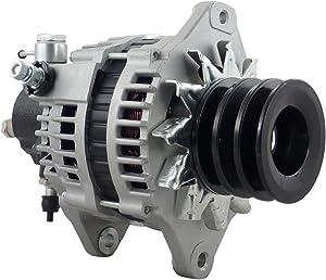 New 12 Volt 110 Amp Alternator Vacuum Pump Not Included for Isuzu Medium/Heavy Trucks NPR/NQR/NRR 4.2L-5.2L 2003 2004 2005 2006 LR1110-501 LR1110-501B LR1110-501BR LR1110-501BAM 97248297 12536N