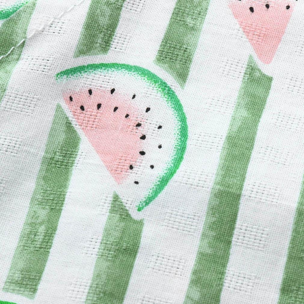 WARMSHOP Baby Cotton Bodysuits 0-18 Months Newborn Cute Short Sleeve Fruits Print V-Neck Romper Sunsuit One-Pieces