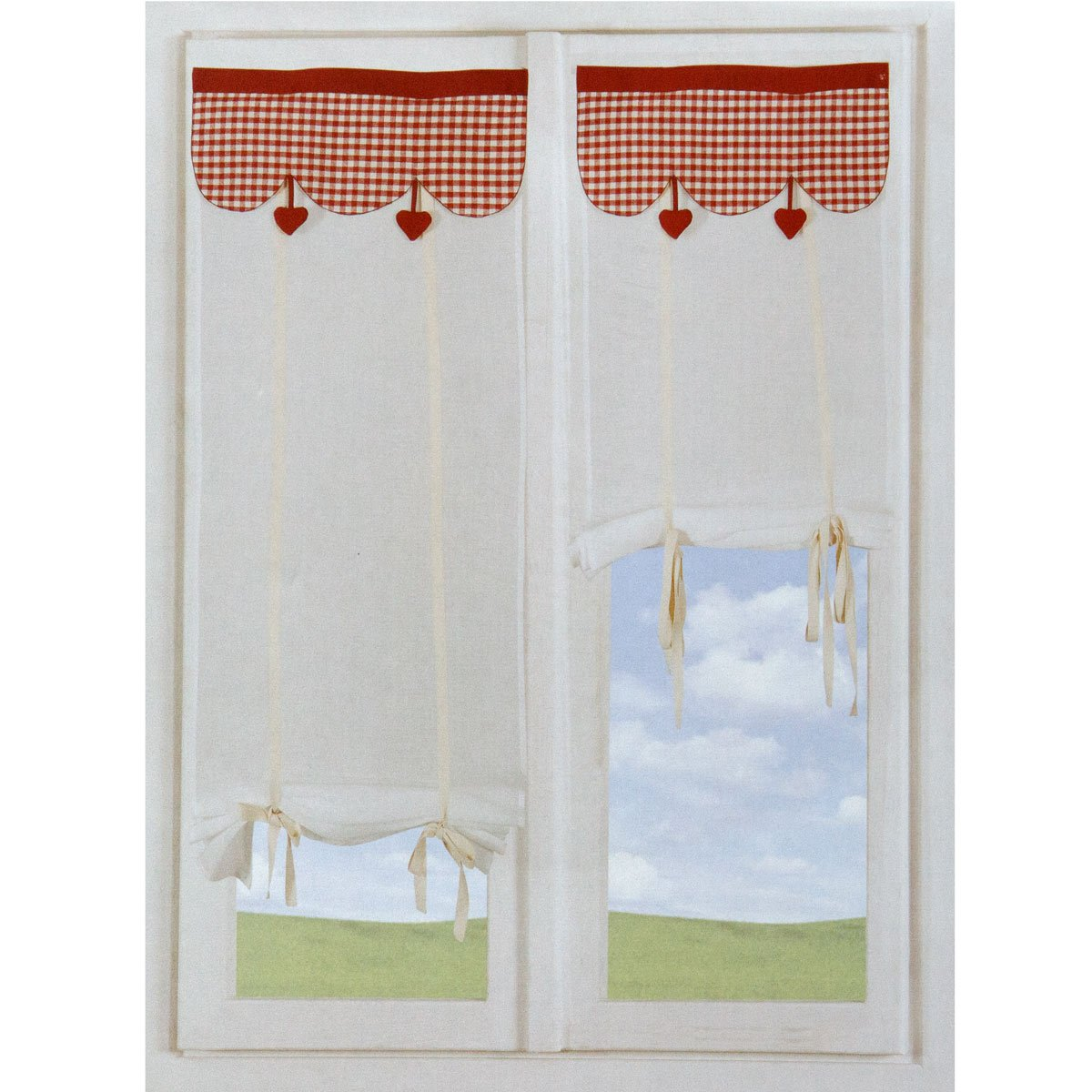 Coppia Tende tendine regolabili vetro finestra 60x230 cm Wendy M378 ...