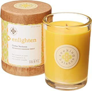 product image for Root Candles Seeking Balance Small Spa Candle, 6.5-Ounce, Enlighten: Cedar Verbena