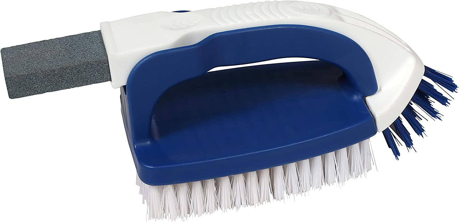 Milliard Scrub Brush - 3 in 1 - Includes Corner Brush and Pumice Stone Cleaner - for All Purpose Cleaning