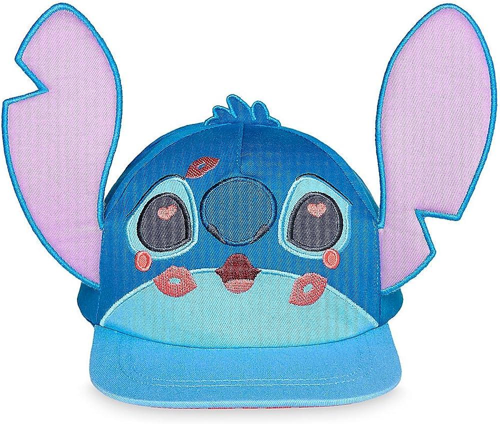 Amazon Com Disney Stitch And Angel Hat For Girls Blue Clothing