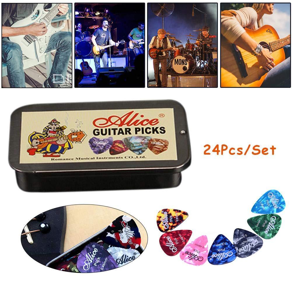 CampHiking Selecciones de Guitarra, plectrums de Guitarra de 24 ...