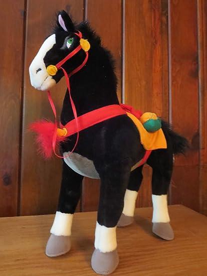 buy disney khan mulan plush horse stands 16 high stuffed black