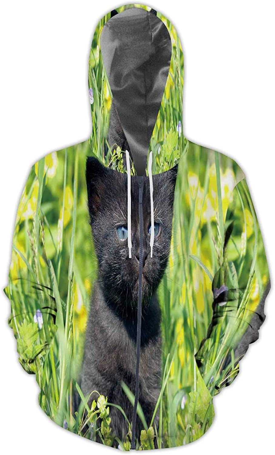 Illustration Germany,Men//Womens Warm Outerwear Jackets and Hoodies Domestic Cat S Cat Sleeping in Slippers