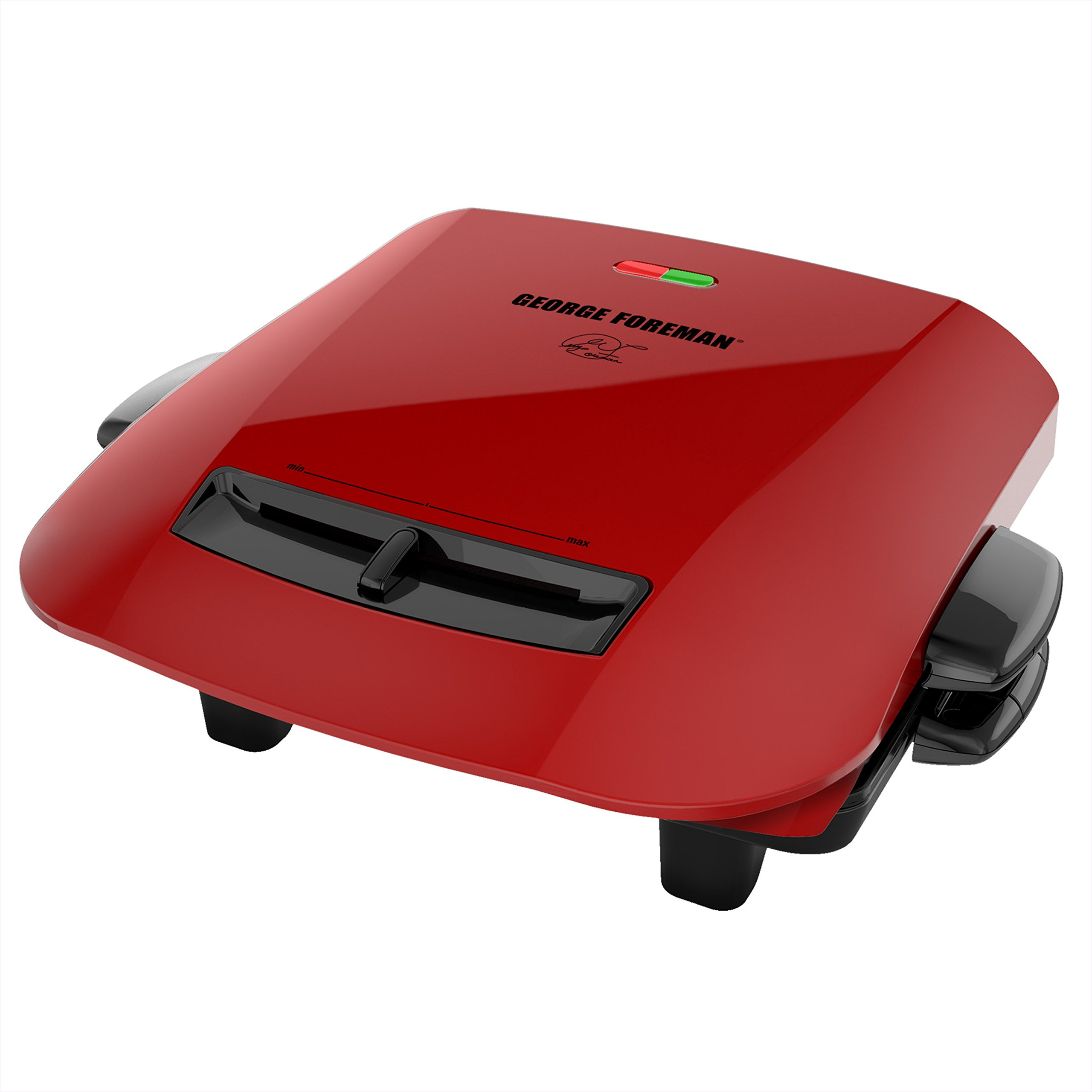 George Foreman 5-Serving Removable Plate Grill and Panini Press, Red, GRP2841R