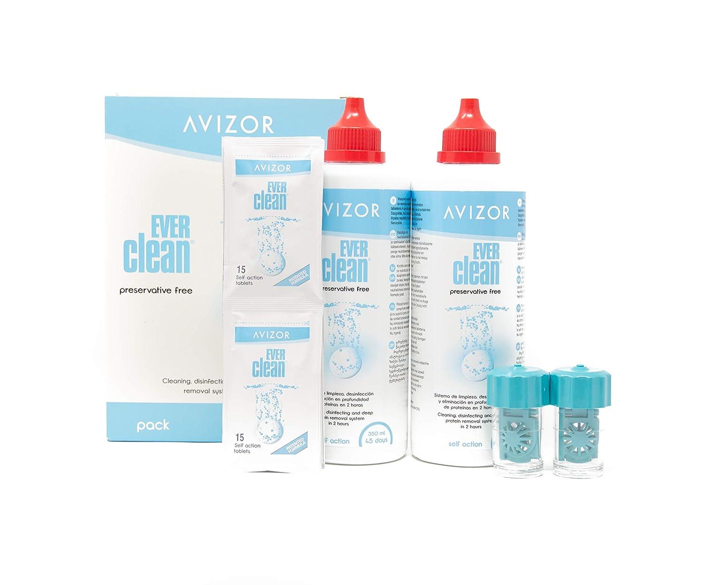 avizor Ever Clean, 2 x 350 ml con indicador de Bio, 1er Pack (1 x 0.836 L): Amazon.es: Salud y cuidado personal