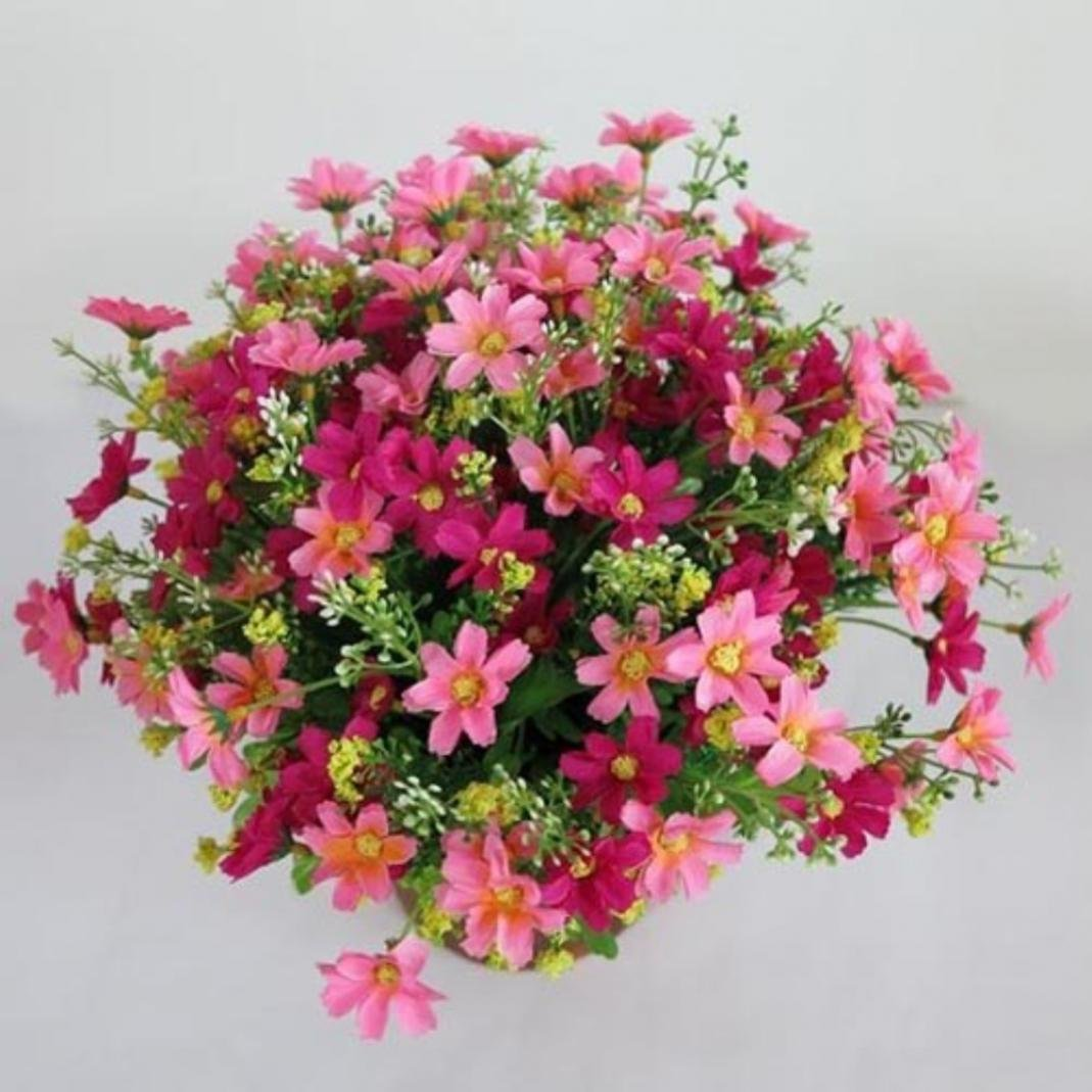 1 Bouquet 28 Heads Artificial Fake Daisy Flower Indoor Outside