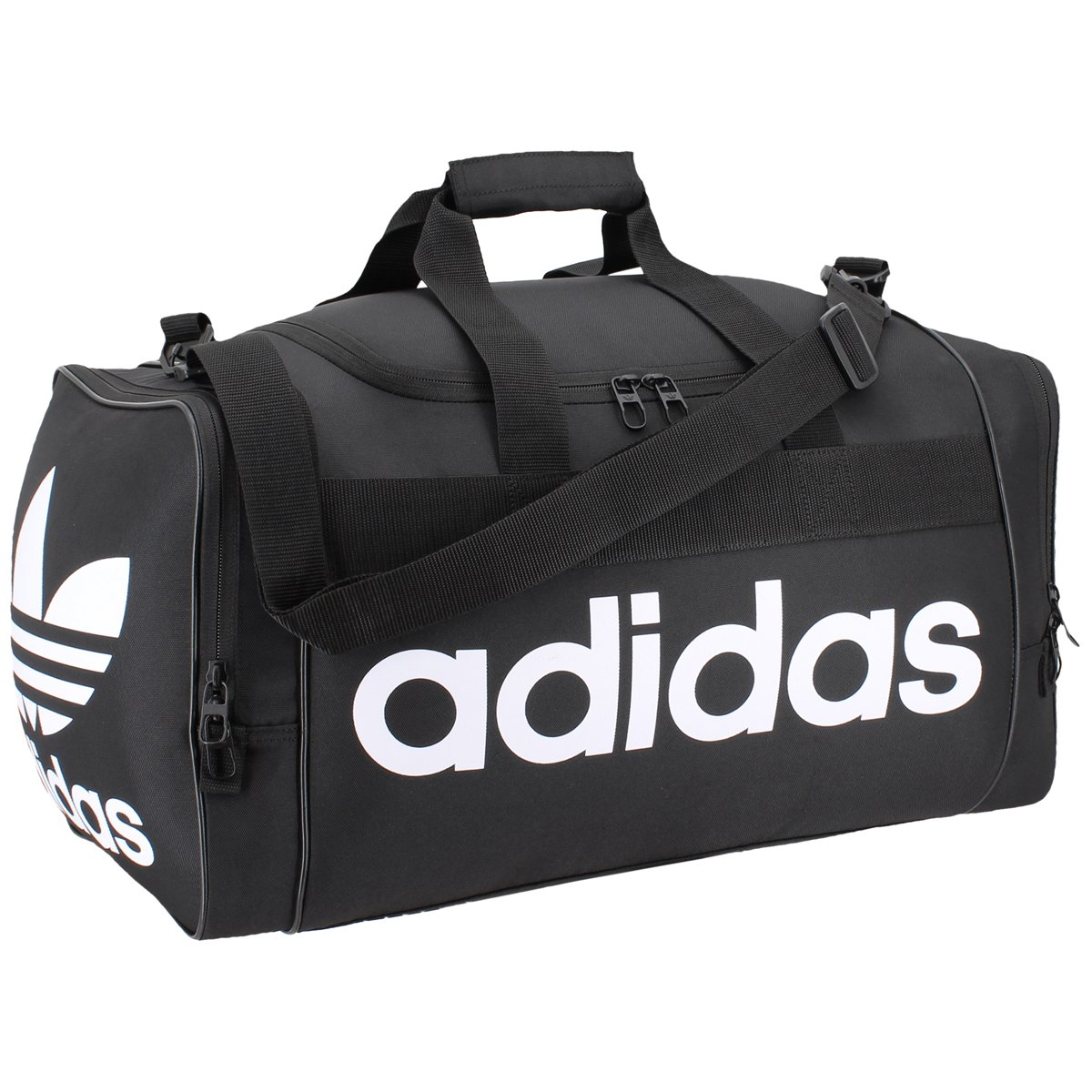 adidas Originals Santiago Duffel Bag, Black/White, One Size