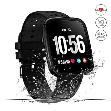 Monitor de actividad,reloj inteligente de fitness,pantalla HD,monitor de actividad con podómetro/frecuencia cardíaca y monitor,alarma de running GPS,para ...