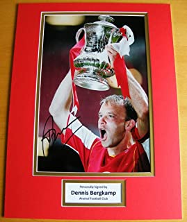 Sportagraphs Dennis Bergkamp Hand Signed Autograph 16X12 Photo Mount Arsenal See Proof & COA