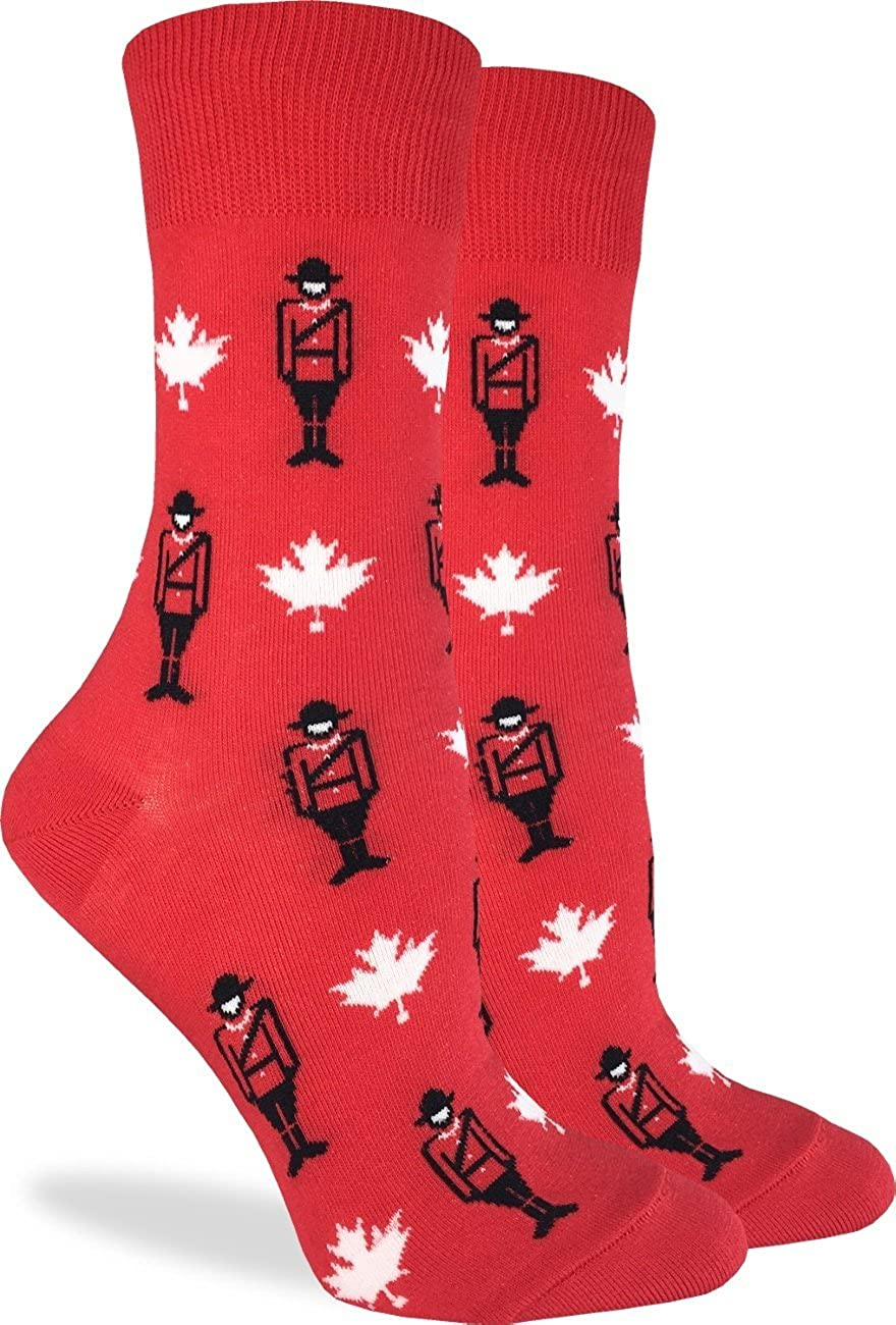 Good Luck Sock Women's Canadian Mounties Socks - Red, Adult Shoe Size 5-9 3161
