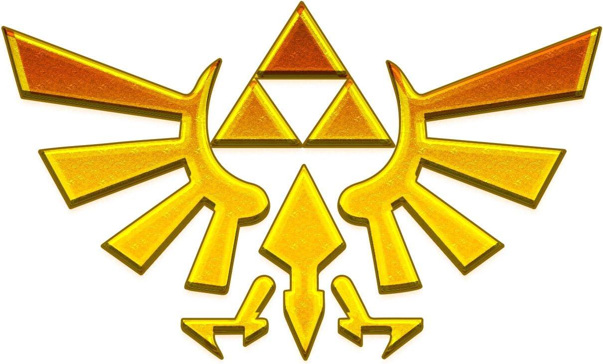 "Bargain Max Decals Zelda Inspired Wings Gold Symbol Window Laptop Car Sticker 4"""