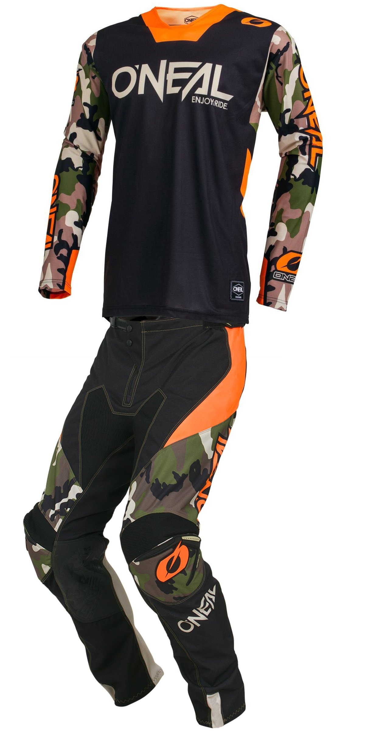 O'Neal - 2019 Mayhem Ambush (Mens HI-VIS Orange & Black X-Large/34W) MX Riding Gear Combo Set, Motocross Off-Road Dirt Bike Camo Jersey & Lite Pant