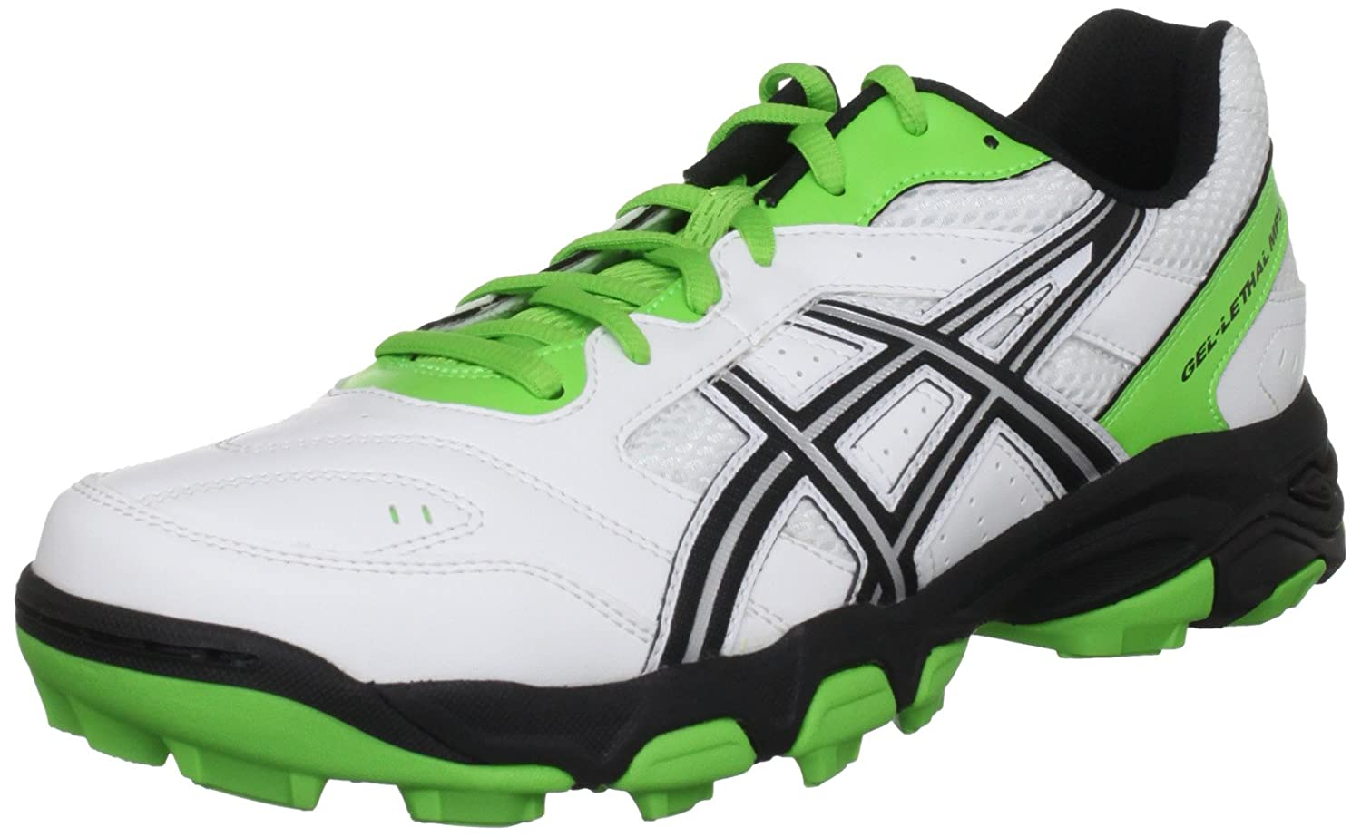 Asics Gel Lethal Mp5, Sneaker Uomo Bianco (White/Black/Green) 45 (10.5 UK) P230Y 0190