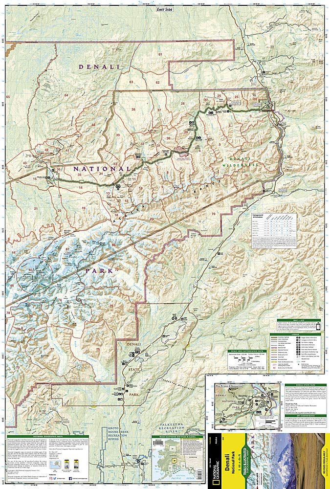 Denali National Park and Preserve: National Geographic Maps ... on
