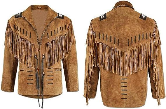 Western Wear Brown Suede Leather Jacket
