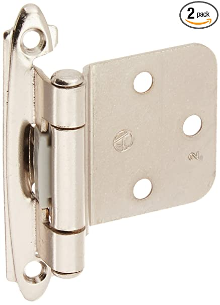 Amerock BPR763026 Variable Overlay Self Closing, Face Mount Polished Chrome  Hinge   2 Pack