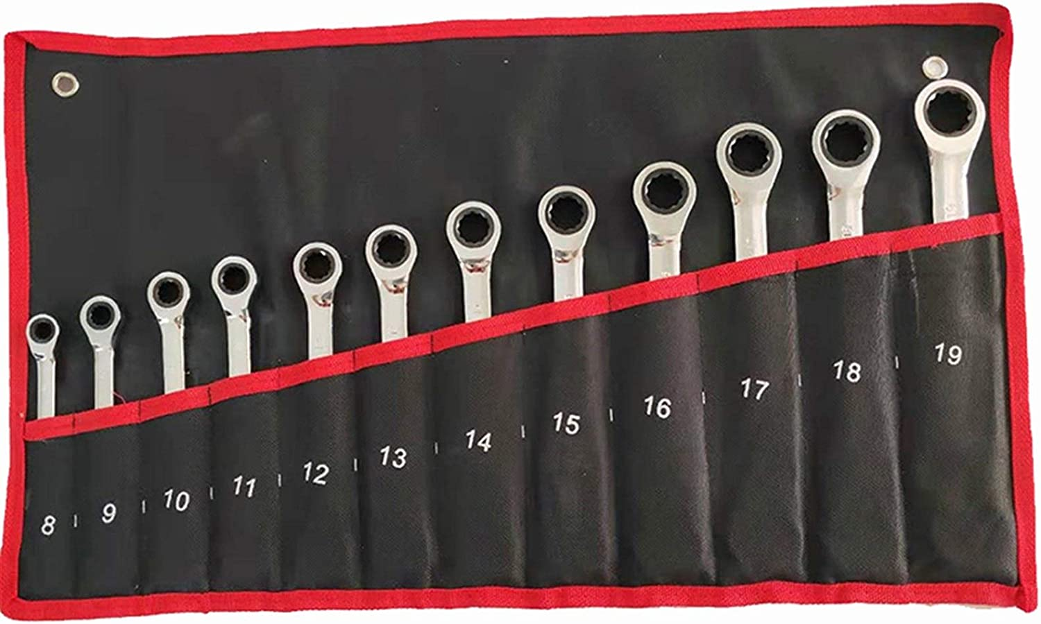 Ratchet Combination Wrench Set Chrome Wrench Set Tools for Repair A Set of Wrench (Color : B 10pcs) 7 Pcs Set