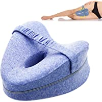 Knee Pillow, TERSELY Orthopedic Memory Foam Wedge for Side Sleepers,Leg Positioner Pillows Leg Pillow for Back, Hip…