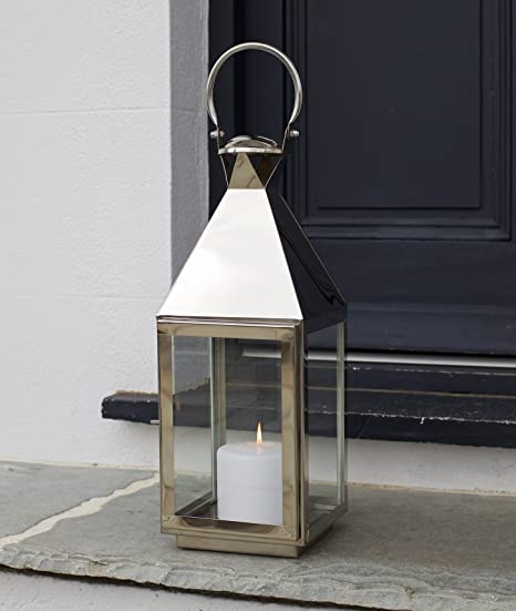 Candle Lantern Tall   High Quality Stainless Steel   Wedding Garden Patio    Indoor Outdoor