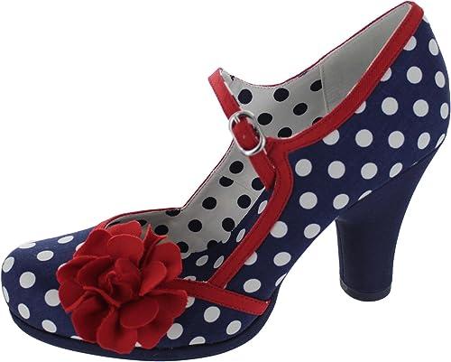 f4f6b605bf Ruby Shoo Women's Navy Spot Hannah Mary Jane Pumps UK 4 EU 37:  Amazon.co.uk: Shoes & Bags