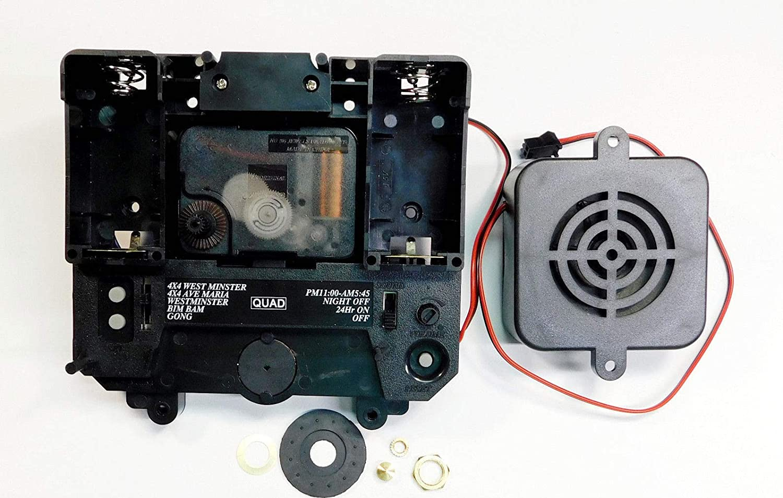 "Triple Chime Quartz Pendulum Clock Movement 2 PACK Tubular Bell 3//8/"" Thick Dial"