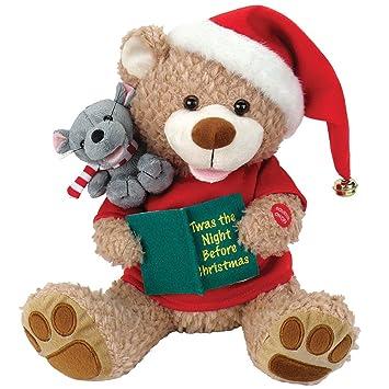 Christmas Bear.Amazon Com Night Before Christmas Bear And Mouse Plush