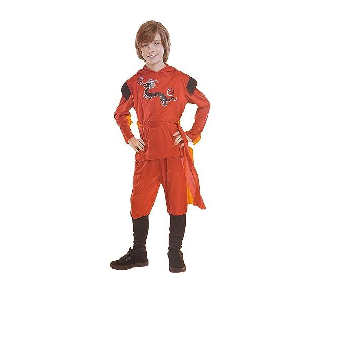 Amazon.com: Boys Red Dragon Ninja Costume Small 4-6: Clothing
