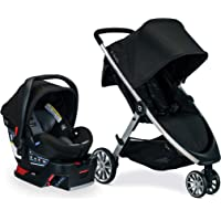 BRITAX B-Lively Travel System with B-Safe Ultra Infant Car Seat| 2 Layer Impact Protection, Noir