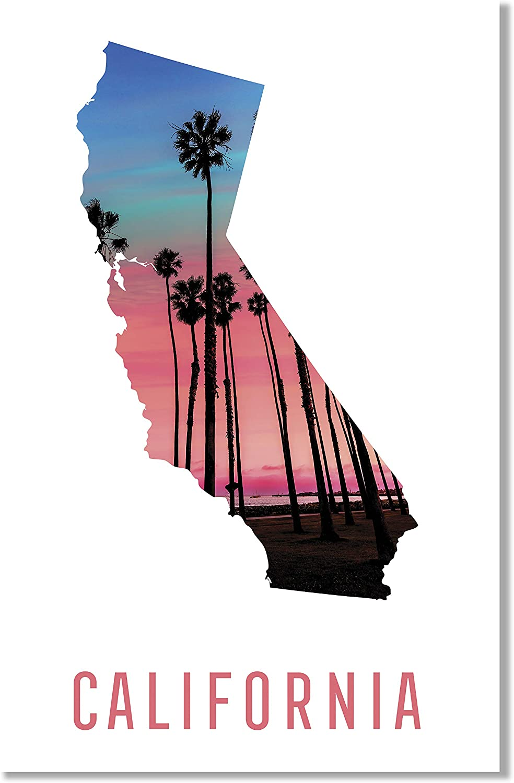 Damdekoli California Poster - 11x17 Inches, Print
