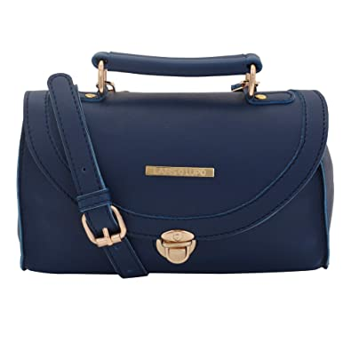 Lapis O Lupo Textured Blue Women Sling Bag (Blue)  Amazon.in  Shoes    Handbags 97746be740aab