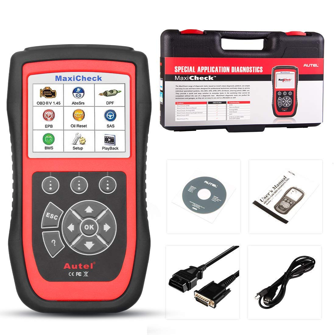 Autel MaxiCheck Pro OBD2 Scanner Automotive Diagnostic Scan Tool with ABS Auto Bleed, SRS Airbag, Oil Reset, SAS, EPB, BMS for Specific Vehicles 1996 to 2012 by Autel (Image #9)