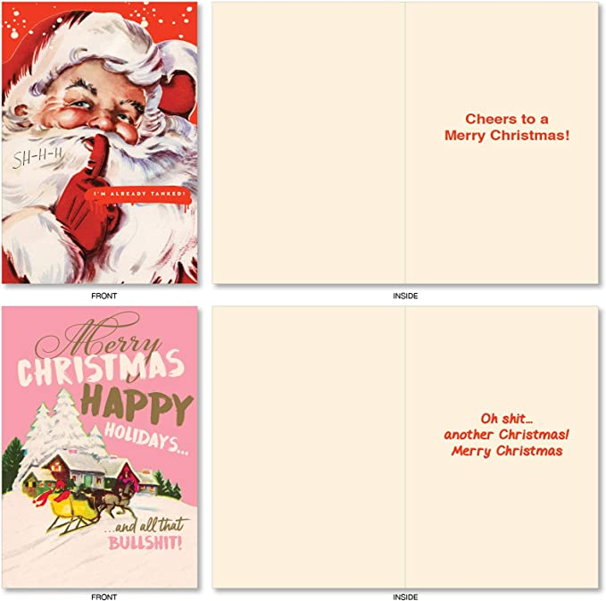Tamko Christmas Card 2020 Amazon.com: NobleWorks   20 Funny Christmas Cards Assorted (10