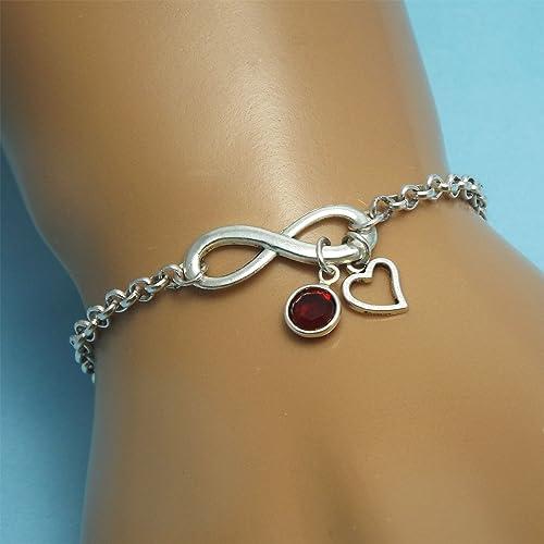 ee3cea10105f3 Amazon.com: Silver infinity bracelet Infinity jewelry Infinity ...