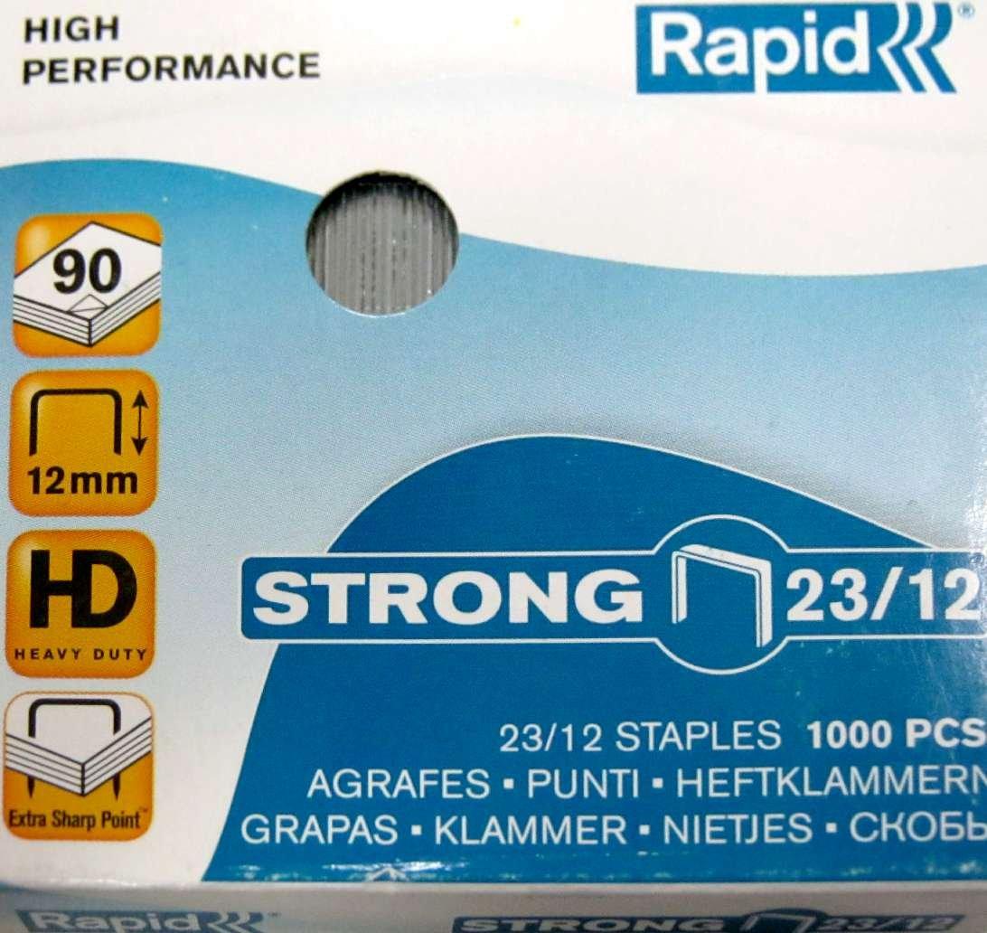 Rapid Heftklammern 24//8 mm Super Strong, verzinkt 1000 St/ück