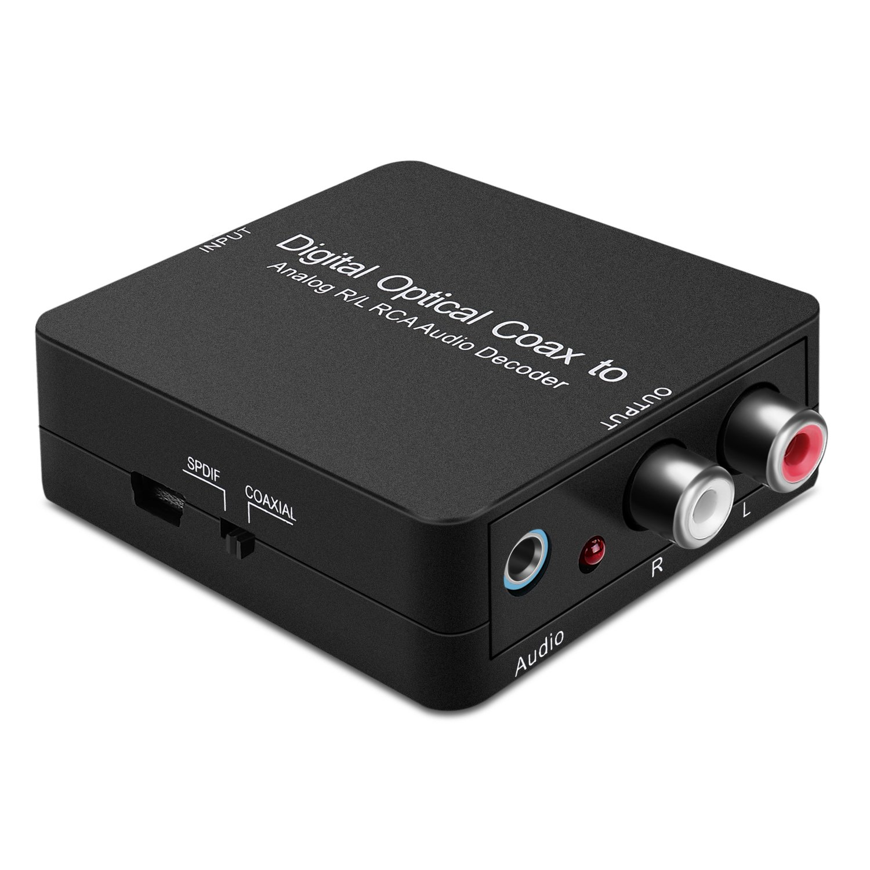 CE Brújula digital SPDIF/Coaxial A analógico RCA L/R Audio Decoder W/Jack de auriculares de 3,5 mm: Amazon.es: Electrónica