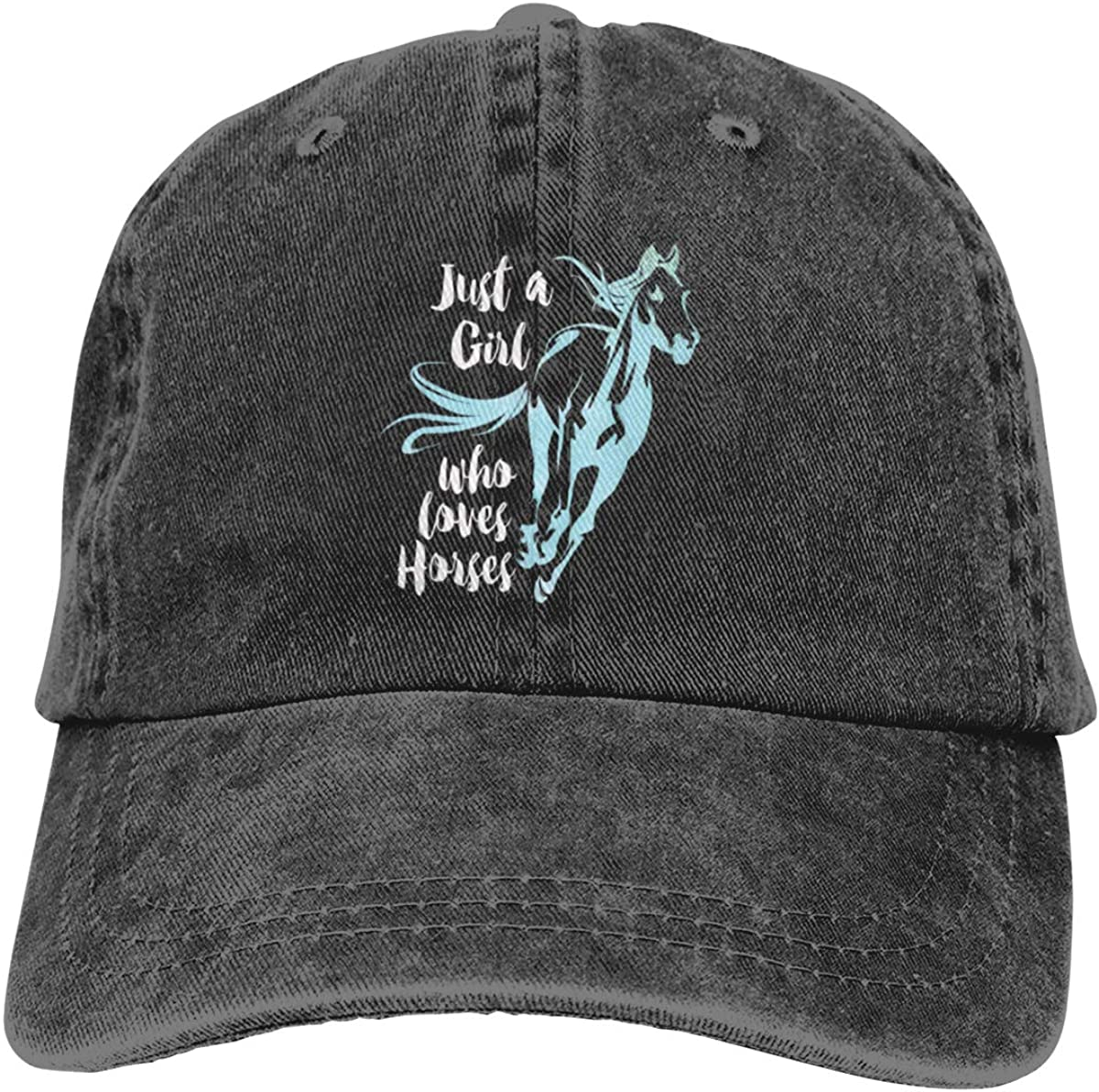Love Horse Girl Men Women Washed Baseball Cap: Clothing