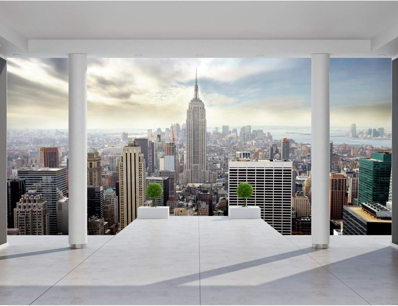 Papel Pintado Fotográfico New York 19 x 19 cm Tipo Fleece no-trenzado  Salón Dormitorio Despacho Pasillo Decoración murales decoración de paredes