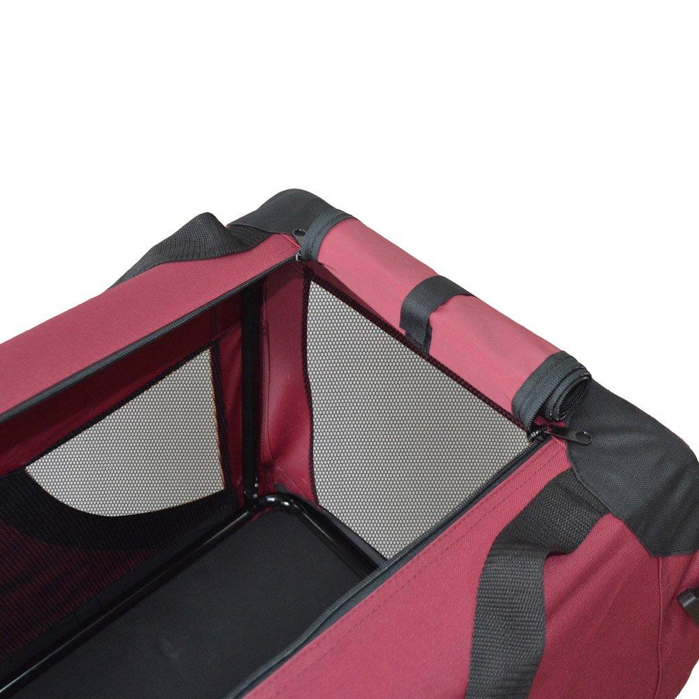 Transportín plegable para perros - Transportín de tela plegable - Caseta de perros portátil - Transporta mascotas para coches - Bolsa de transporte ...