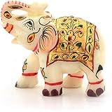 Greentouch Crafts Jaipur Raga Rajasthani Handmade Elephant Marble Handicraft Pure Marble