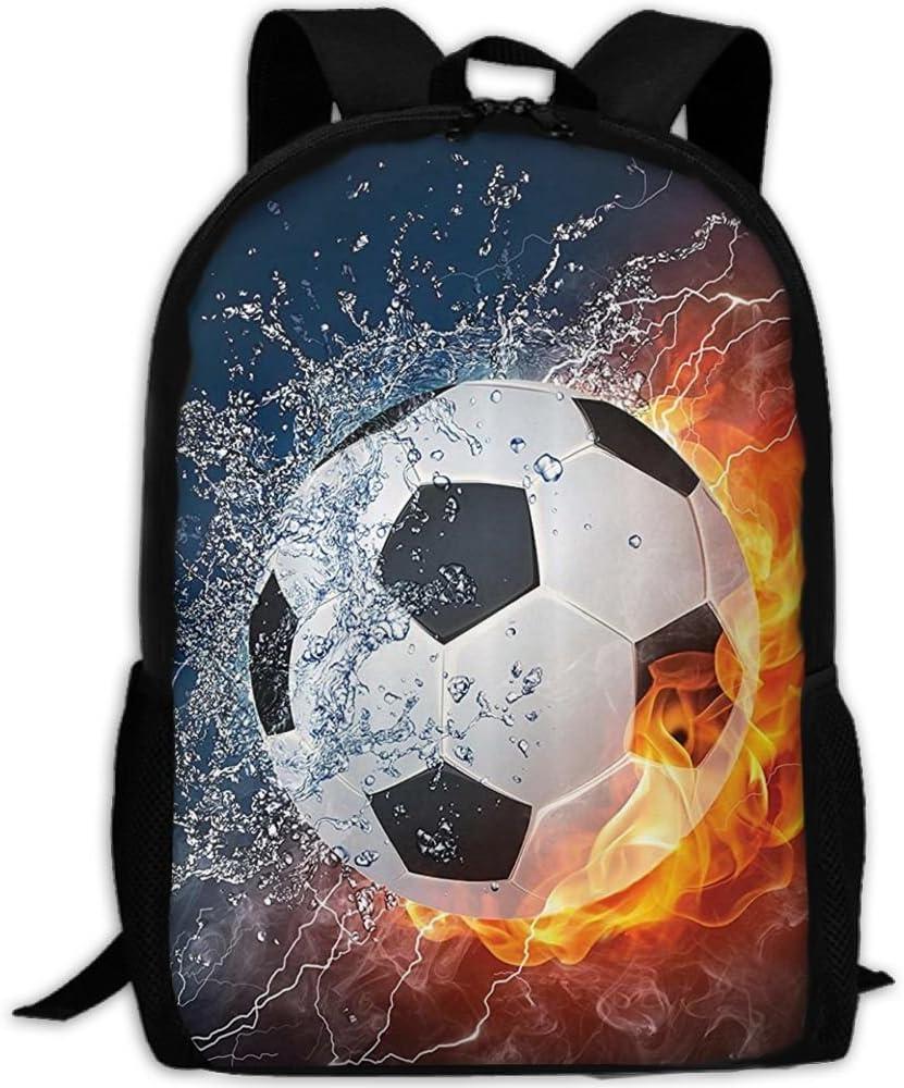 Nuevo balón de fútbol sobre Fuego y Agua Llama Salpicadura Trueno ...
