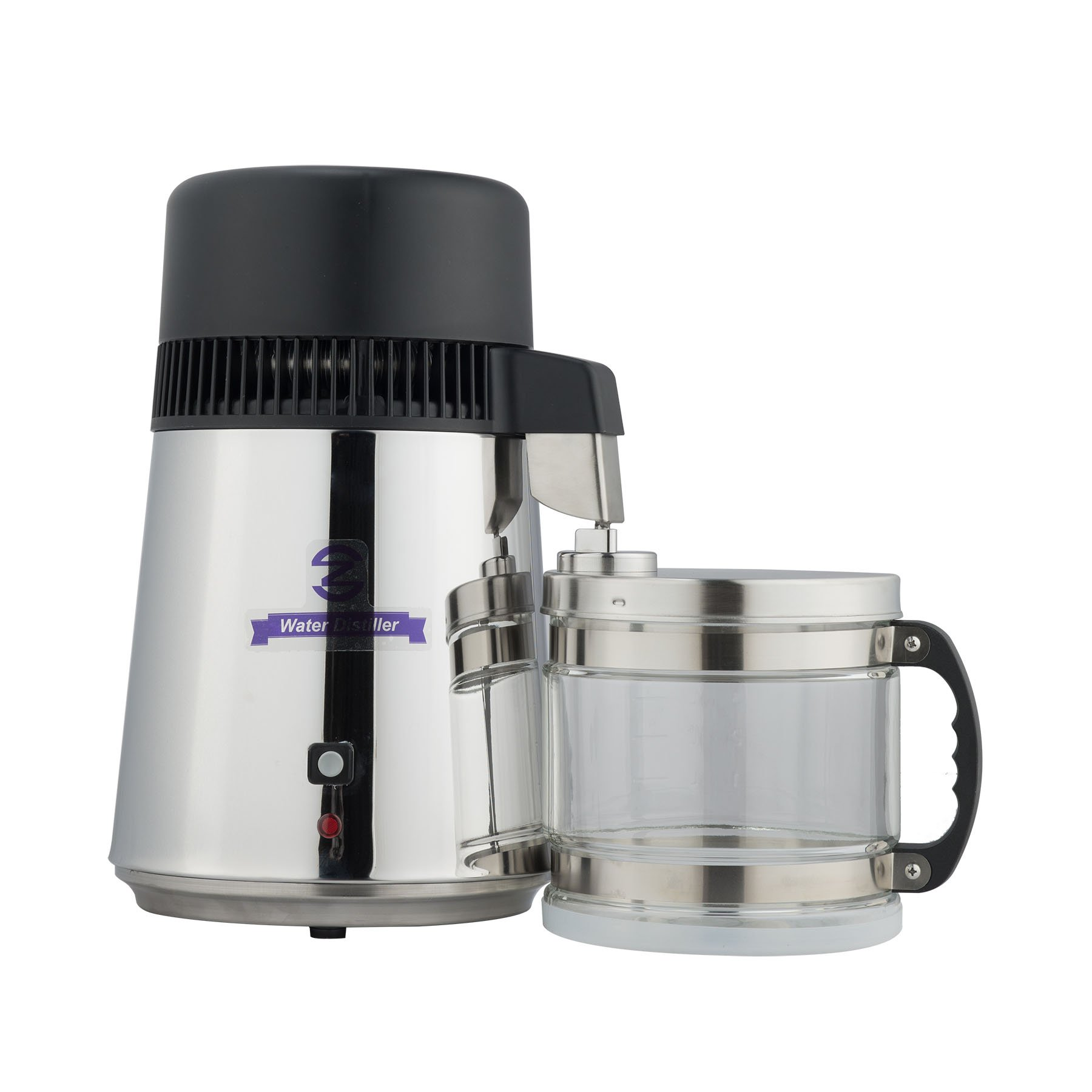 CO-Z Stainless Steel Countertop Home Water Distiller Machine with 4 Liter Connection Bottle