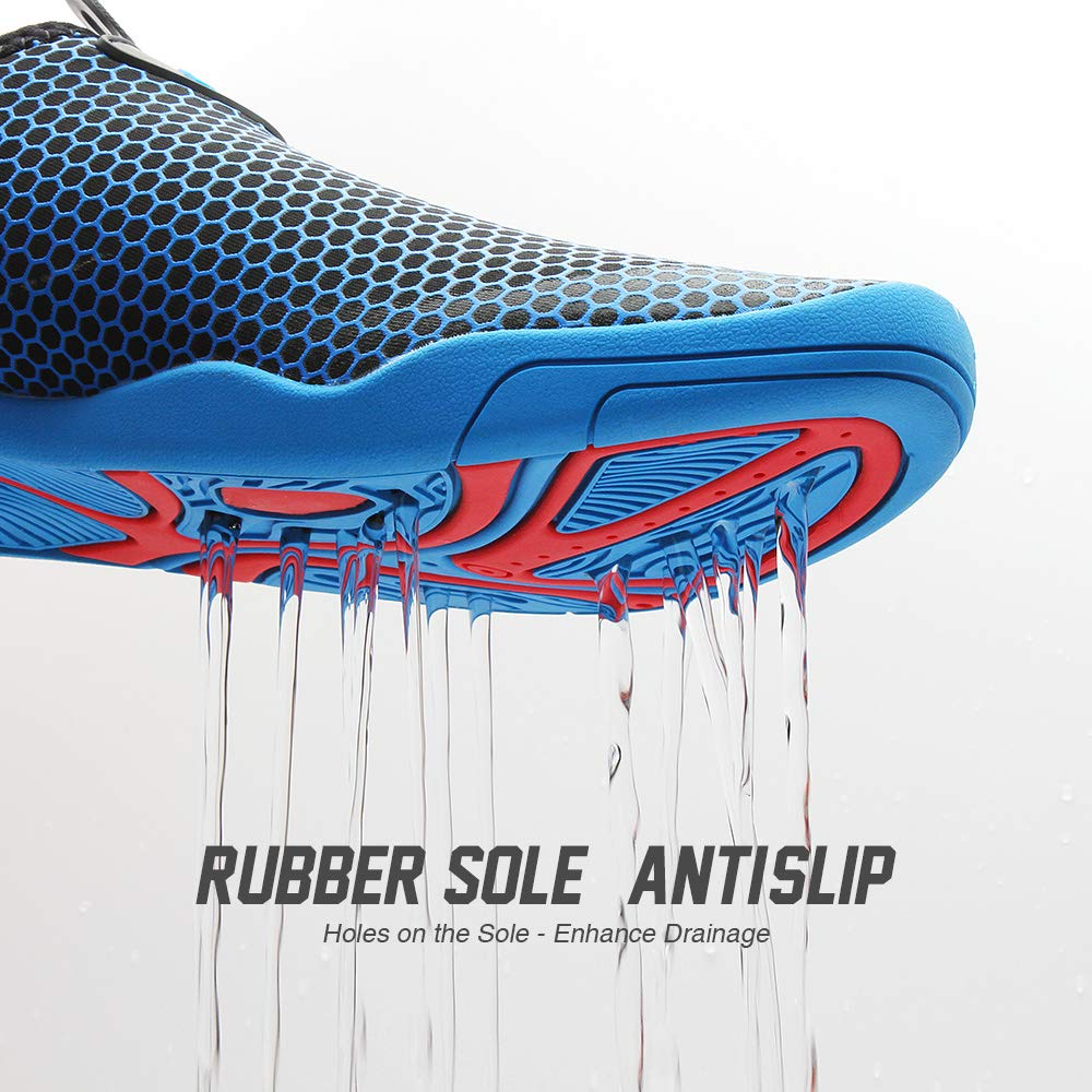 CAPAS Water Shoes Quick Drying Upgrade Design Wearing Barefoot for Women Men Unisex
